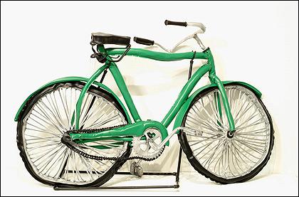 Green Bike by Margarita Cabrera