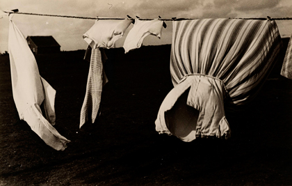 Laundry on clothesline